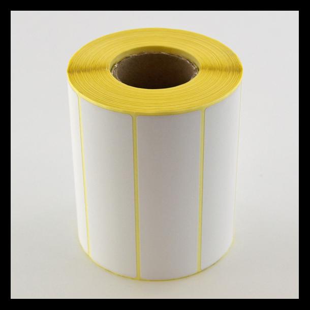 Thermo etikett på rull, 105x32 mm, perm. lim