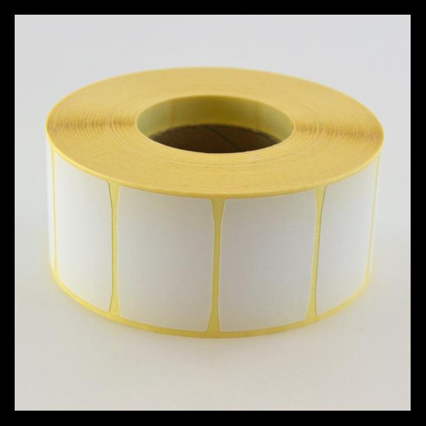 Thermo etikett på rull, 40x27 mm, avtakbart lim