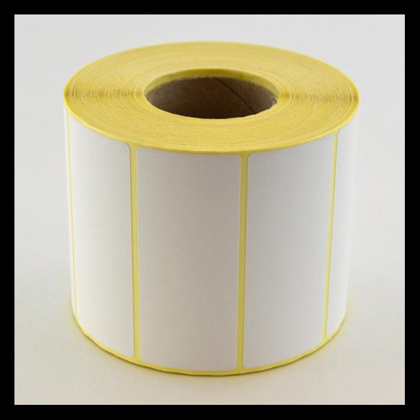 Thermo etikett på rull, 75x31 mm, perm. lim